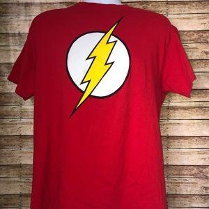DC Comics Flash Red Thunder Short Sleeve Tee Sz L